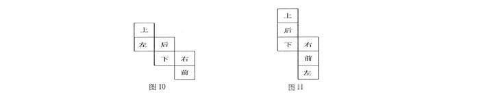 相关阅读:如何克服行测资料分析中计算量太大的问题(一、如何快速有效的分析数据;二、如何缩短运算的时间) 图形推理中折叠图形的解题原理分析   解题思路:通过平面图形的性质来分析立体图形空间特征。图形折叠后的性质很多是可以从平面图形中直接反映出来的,比如哪些面必然是对立的,哪些面必然是相邻的,每个面上直线的方向等。   解题方法:排除法。利用平面图形的性质可以快速排除错误选项,有利于快速解题。   正方体(六面体)表面展开图的性质   你知道正方体表面展开图有多少种吗?解答:11种   图中上和下
