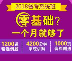2018年省考系统班