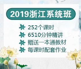 2019浙江系统班大放价