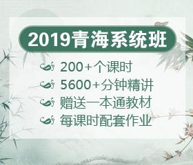 2019年青海笔试系统班