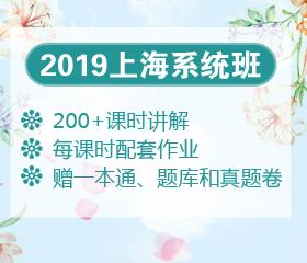 2019年上海笔试系统班