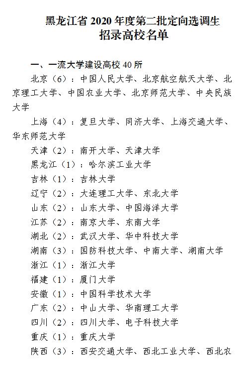 2020年黑龙江省牡丹江市招录选调生公告(112名)