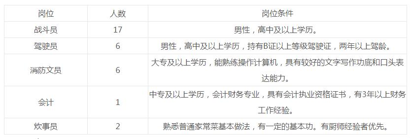 2019年河南鹤壁经济技术开发区政府专职消防员招聘公告