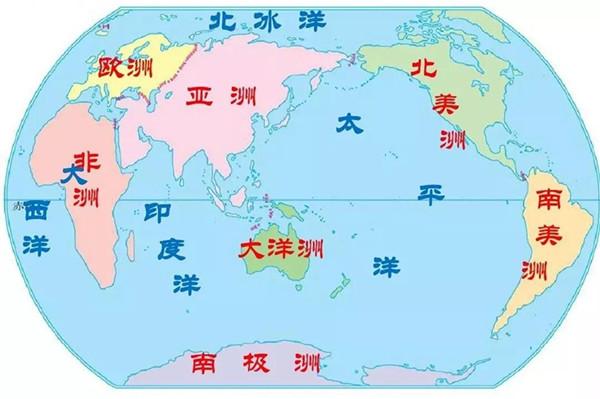 常识积累:七大洲概况