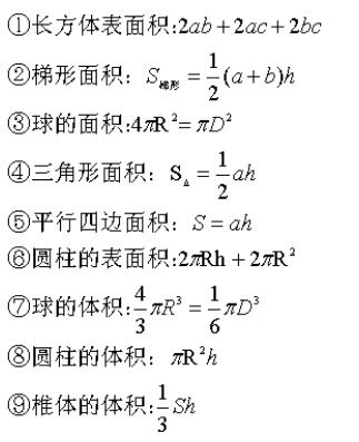 2021年广东省考行测 数量关系常用公式汇总