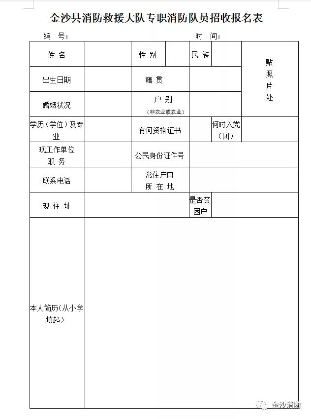 贵州金沙县消防救援大队招聘40人公告