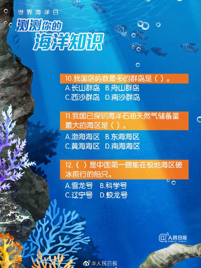 世界海洋日和全国海洋日