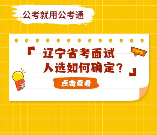 辽宁省考面试人选如何