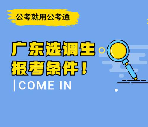 广东选调生报考条件